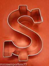 DOLLAR MONEY SIGN COOKIE PASTRY BISCUIT METAL CUTTER NEW