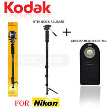 "Kodak Monopod 72"" With For NIKON D5300,D5200,D5100,D3200 + Remote Control"