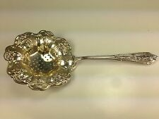 Wallace 1930's Art Deco Rose Point Pattern  Sterling Silver Tea Strainer Spoon