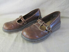 Women's Airwalk Brown Leather Mary Jane Style Loafers/Shoes Size 10 in EUC!!
