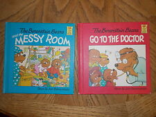 Vintage Hardcover THE BERENSTAIN BEARS-Go to the Doctor/and Messy Room 1981