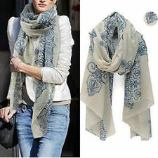 Women Long Neck Large Scarf Wrap Shawl Pashmina Scarves Chiffon Cotton Fashion