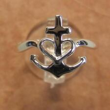sterling silver new faith, hope & charity ring