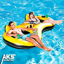 Inflatable 2 Person Tube Float Water Cooler Pool Lake Party Raft Floating Lounge