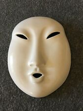 Porcelain Mask Wall Hanging Japanese Male