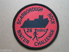Scarborough Rock Winter Challenge Style 2 Walking Hiking Woven Cloth Patch Badge