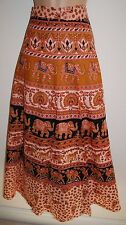 New Cotton Wrap Skirt 10 12 14 16 Hippy Ethnic India Ankle Length Hippie Birds