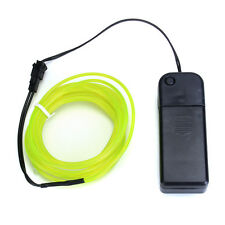 10 Ft Neon Green LED Light Glow EL Wire String Strip Rope Tube + Controller