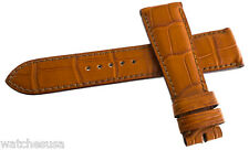 Genuine Roger Dubuis 20mm Croc Brown Leather Watch Band Strap
