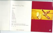 Thai Airlines Old Menu Brisbane to Bangkok Includes detachable Postcard TG 984 Y