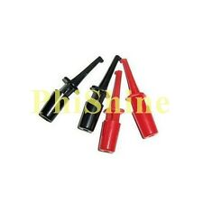 10pcs Test Clip Hook Test Clip Test Hook Black Red Each Half