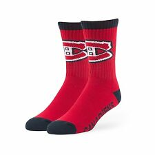 NHL Montreal Canadiens '47 Brand Bolt Crew Socks, Large 1-Pack