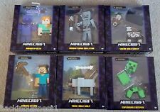 MINECRAFT-SURVIVAL MODE-LOT OF 6-ALEX,SKELETON,SHEEP,STEVE,WOLF,CREEPER-BNIP!!!!
