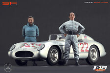 1/18 Stirling Moss & Denis Jenkinson figures VERY RARE!!! for1:18  CMC Mercedes