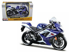SUZUKI GSX-R 750 BLUE BIKE 1/12 MOTORCYCLE BY MAISTO 31153