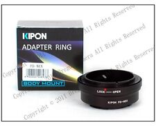 New Kipon Adapter For Canon FD Lens to Sony NEX E NEX-7/6/5 a7 a7r NEX-VG10E