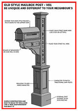 (BUILDING PLANS) for OLD STYLE MAILBOX / LETTERBOX POST V01 - BUILD & SAVE $$$