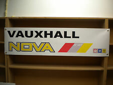 Vauxhall Nova Sport banners for workshop or garage