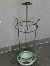 retro Ornate Umbrella Stand ART DECO Wrought iron Keramik GES GESCH mid centur