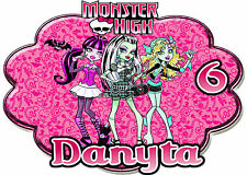 Monster High Birthday Party t Shirt Iron On Transfer Personalized Decal