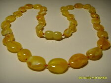 Authentic Butter  Genuine Baltic Amber necklace 12.39 gr. A-465