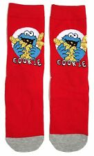 LADIES SESAME STREET FESTIVE RED COOKIE MONSTER SOCKS UK 4-8 EUR 37-42 US 6-10
