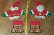 Christmas SANTA CLAUS Screen Print - CUT-OUT - Make Doll or Pillow!