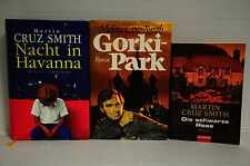 Bücherpaket 3x Martin Cruz Smith/Die schwarze Rose/Nacht in Havanna/Gorkipark