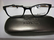 KAY UNGER  EYEGLASSES FRAME K173  BLACK  52-18-135  W/ CASE  NEW AUTHENTIC