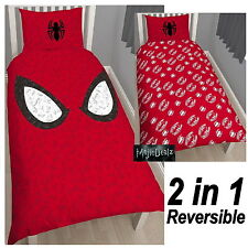 MARVEL SPIDERMAN 'REFLEX' SINGLE DUVET COVER SET 2 in 1 NEW