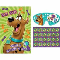 Scooby Doo Birthday Party Game Boys Door Fun Pin the Tail Donkey Style Wall