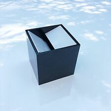 3 1/8 Inch Black Cube, Designed by Enzo Munari For Danese, Made In Italy