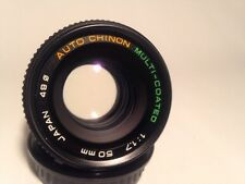 K MOUNT 50mm F1.7 MULTI COATED PRIME LENS FOR PENTAX BY CHINON, PK MOUNT, CAPS
