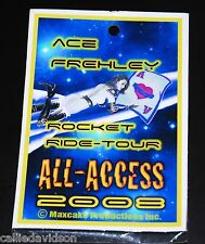 ACE FREHLEY Rocket Ride Concert Tour All Access '08 Laminate Backstage Pass Kiss