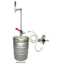 Rod & Faucet CO2 System w/out CO2 Tank - Draft Beer Keg Party Picnic Pump Tap
