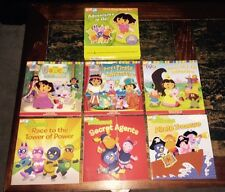 Nick Jr Carry Along Books Set Dora the Explorer Backyardigans Adventures to Go