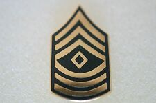 US USA Army E-8 First Sergeant Military Hat Lapel Pin