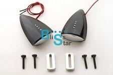 Black Custom LED Mirrors Turn Signals For Kawasaki ZX-10R 2008-2010 EV