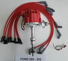 FORD Small Block 221,260,289 & 302 RED HEI Distributor & Spark Plug wires USA