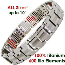 Mens Titanium Magnetic Health Bracelet 600 Elements Pain Aid & Fitness -600ST sa