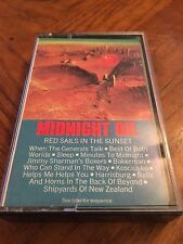 MIDNIGHT OIL - RED SAILS IN THE SUNSET - CASSETTE TAPE - 1985