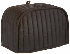 Toaster Cover 4 Slice Kitchen Quilted Fabric Black Cotton Color Appliance Decor