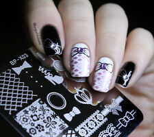 BORN PRETTY Nail Art Stamping Plates Lace Image Stamp Template 6*6cm BP-X03