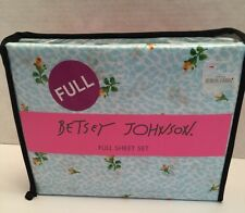 New Betsey Johnson Floral Leopard 4 pc sheet set FULL cotton blend