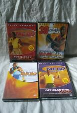 Lot of 4 TAE BO Billy Blanks TAEBO Workout Exercise DVD's