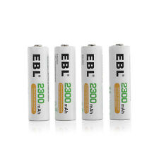 4x EBL AA Ni-MH 2300mAh Rechargeable Batteries For MP3 Toys Camera Free Shipping