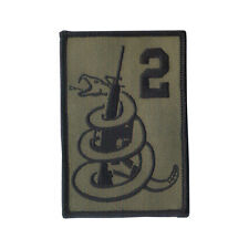 """Hook & Loop 3 3/4"""" X 2 1/2"""" Embroidered Patch """"2nd Amendment"""" """"Don't Tread on Me"""