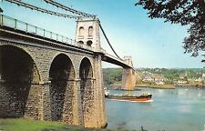 BR67048 the menai suspension bridge ship bateaux anglesey wales 14x9cm