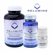 Relumins Advance White Glutathione, Vitamin C MAX & Boosters - NEW! w/ Rose Hips