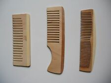 "Lot of 3 ""Earthline"" Wood Wooden Hair Care Comb Brush Spa Massage NEW"